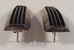 Tom Hawk Navajo Indian Sterling Silver Earrings