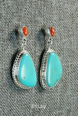 Turquoise & Sterling Silver Earrings Annie Spencer Navajo