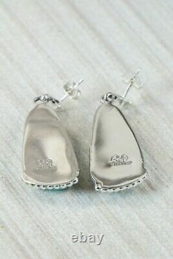Turquoise & Sterling Silver Earrings Rosie Chee Navajo
