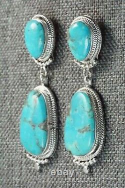 Turquoise & Sterling Silver Earrings Verley Betone
