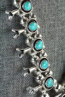 Turquoise & Sterling Silver Squash Blossom & Earrings Phil Garcia