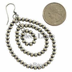 Vangie Touchine Sterling Silver Navajo Pearl Tear Drop Dangle Earrings