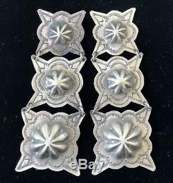 Very Large Navajo Rita Lee Concho Sterling Silver Earrings