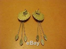 Vintage Aleut Denise Wallace Sterling Spirit Of Driftwood Earrings 1993