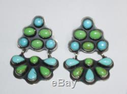 Vintage Kee Cook Rocki Gorman Sterling & Turquoise Earrings + Collar Necklace