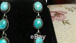 Vintage Navajo Number 8 Turquoise Sterling Silver Earrings