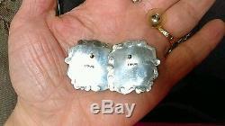 Vintage Navajo Smokey Valley Turquoise Sterling Silver Earrings
