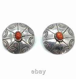 Vintage Old Pawn Navajo Sterling Silver Multi Stone Earring Lot