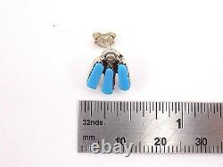 Zuni Handmade Sleeping Beauty Choker Set In Sterling With Earrings-C Hattiie