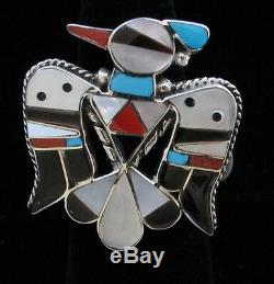 Zuni Indian Ring 50% Off Thunderbird Size 7 Multistone Inlay Bobby&Corinne Shack